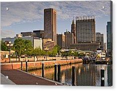 Early Morning Baltimore Inner Harbor Acrylic Print