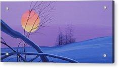 Silent Snow Acrylic Print