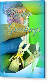 Easter Greetings Acrylic Print by The Creative Minds Art and Photography