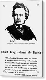 Edvard Grieg (1843-1907) Acrylic Print by Granger