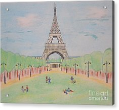 Eiffel Tower Acrylic Print by Denise Tomasura