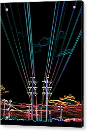 Electric Night Acrylic Print