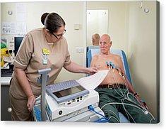 Electrocardiography Test Acrylic Print