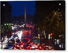 Elevated View Of Traffic On The Road Acrylic Print