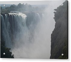 Elevated View Of Waterfall, Devils Acrylic Print by Panoramic Images