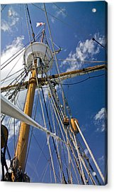Acrylic Print featuring the photograph Elizabeth II Mast Rigging by Greg Reed