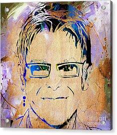 Elton John Collection Acrylic Print by Marvin Blaine