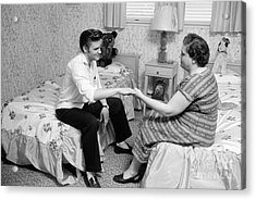 Elvis Presley And His Mother Gladys 1956 Acrylic Print by The Harrington Collection