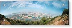 Emek Yizrael Panorama Acrylic Print