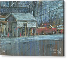 Acrylic Print featuring the painting Emissions Testing by Donald Maier
