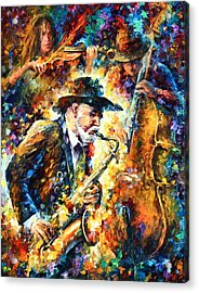 Endless Tune Acrylic Print by Leonid Afremov