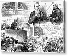 England Election, 1880 Acrylic Print by Granger