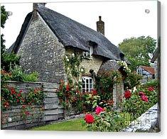 English Cottage  Acrylic Print by Katy Mei