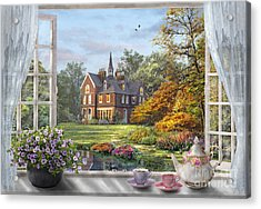 English Garden Acrylic Print by Dominic Davison