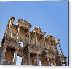 Ephesus Library Acrylic Print by David Parker