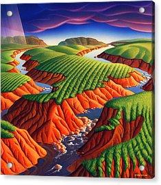 Erosion Acrylic Print by Robin Moline