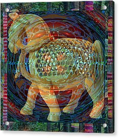 Ethnic Woodcraft Horse Decorated Toy Game Gems Jewels Special Occasion Background Designs  And Color Acrylic Print