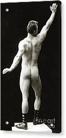 Eugen Sandow In Classical Ancient Greco Roman Pose Acrylic Print by American Photographer