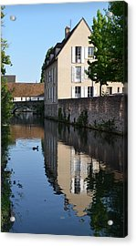 Eure River In Chartres Acrylic Print by RicardMN Photography