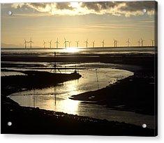 Evening Low Tide  Acrylic Print