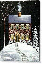 Evergreen Cottage Acrylic Print by Catherine Holman