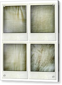 Fabrics Acrylic Print by Les Cunliffe