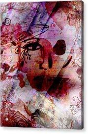 2 Face Acrylic Print by Megan Sax