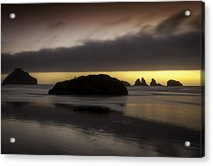 Face Rock Bandon By The Sea Acrylic Print by Jean-Jacques Thebault