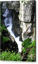 Faces In The Rocks Acrylic Print by Mukta Gupta