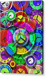 Faces Of Time 1 Acrylic Print by Mike McGlothlen