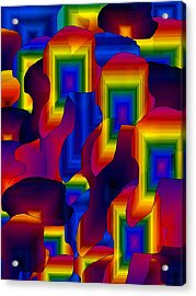 Acrylic Print featuring the digital art Fantastic by Gayle Price Thomas