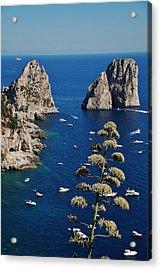 Faraglioni In Capri Acrylic Print