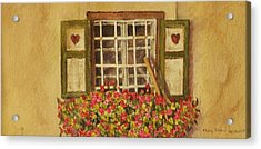 Farm Window Acrylic Print by Mary Ellen Mueller Legault