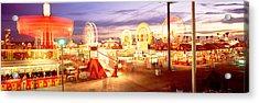 Ferris Wheel In An Amusement Park Acrylic Print