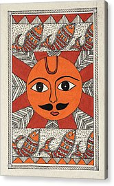 Festive Sun Acrylic Print by Neha Dasgupta