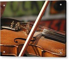 Fiddle Time Acrylic Print