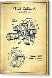 Film Camera Patent Drawing From 1938 Acrylic Print