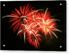 Fireworks Over Kauffman Stadium Acrylic Print