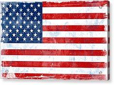 Flag Of Usa Acrylic Print by Modern Art Prints