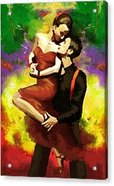 Flamenco Dancer 029 Acrylic Print by Catf