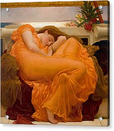 Flaming June Acrylic Print by Frederick Leighton