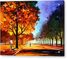 Flaming Night Acrylic Print by Leonid Afremov