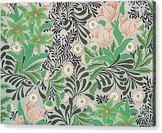 Floral Design Acrylic Print by William Morris