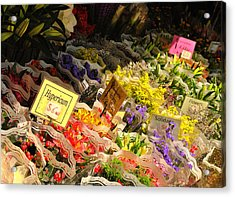Flowers For Sale Acrylic Print