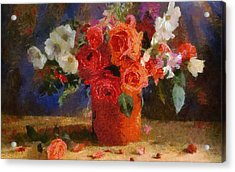 Acrylic Print featuring the painting Flowers by Georgi Dimitrov