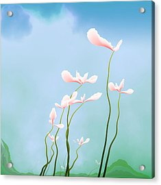 Flowers Of Peace Acrylic Print by GuoJun Pan
