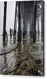 Fog At The Pier Acrylic Print