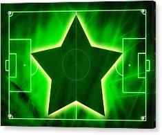 Football Soccer Pitch Acrylic Print