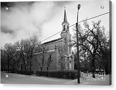 former st josephs catholic church in Forget Saskatchewan Canada Acrylic Print by Joe Fox