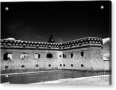 Fort Jefferson Walls With Garden Key Lighthouse Bastion And Moat Dry Tortugas National Park Florida  Acrylic Print by Joe Fox